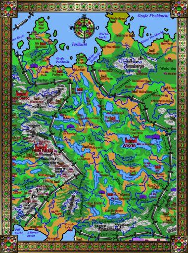 Karte Ahlorenreich - bunt