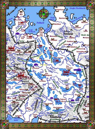 Karte Ahlorenreich - weiß