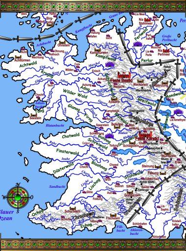 Karte Barkland - weiß viele Infos