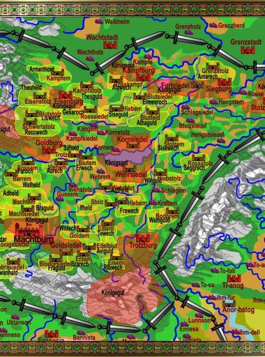 Karte Gotonien - bunt Koäns