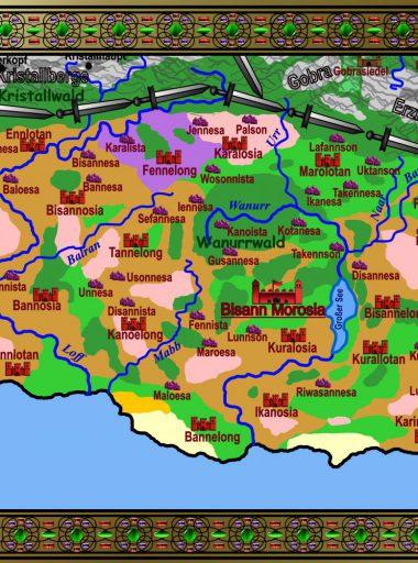 Karte Motavien - bunt mit Details