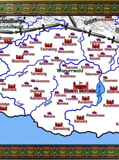 Karte Motavien - weiß mit Details
