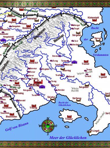 Karte Ostiedien - weiß mit Details