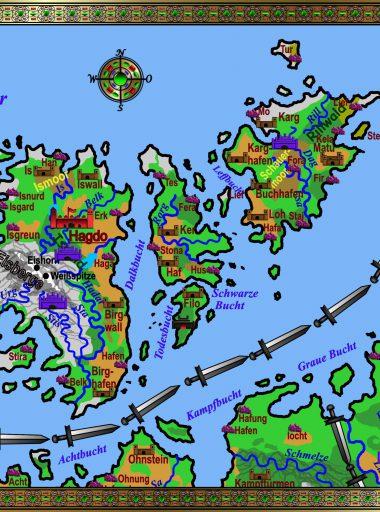Karte Rogarland - bunt