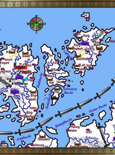 Karte Rogarland - weiß